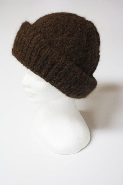 Chocolate alpaca beanie