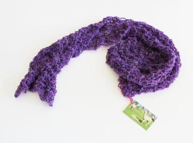 Open knit alpaca scarf - twilight lavender