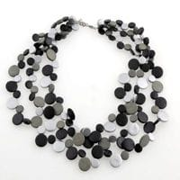 Black with Silvers smarties necklace