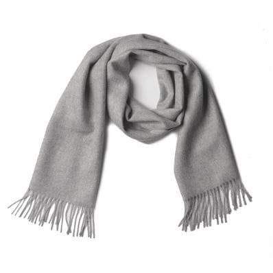 Grey 100% baby alpaca scarf