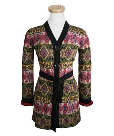 Long Alpaca Coat With Ruffles M -clearance