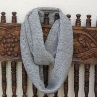 Eternal Lace alpaca scarf - grey