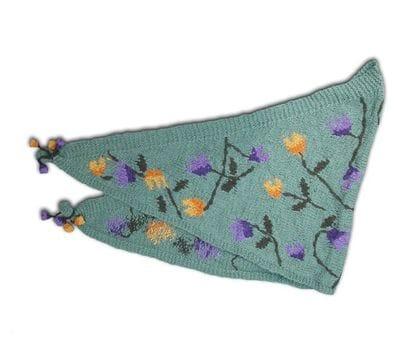 Tulips design shawl
