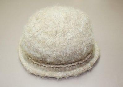 Felted Alpaca Hat - Natural cream