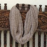 Eternal Lace alpaca scarf  - husk