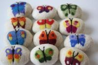 Felted Soap - butterfly