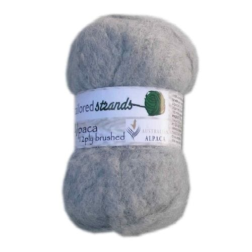 Silver Brushed Alpaca Yarn 50g