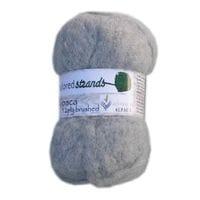Silver Brushed Alpaca Yarn 50g