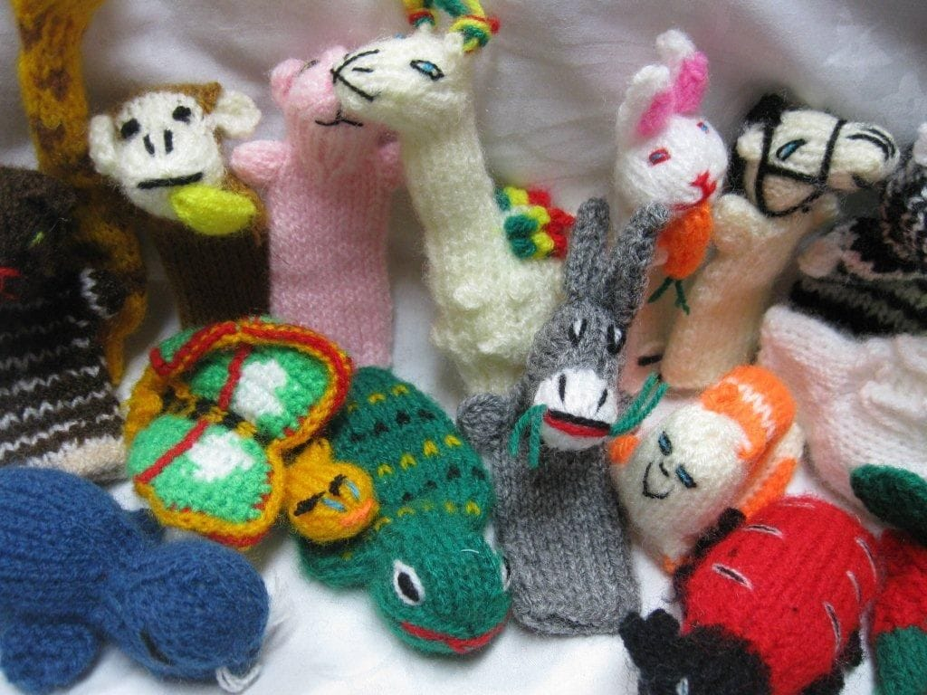 100 Fingerpuppets mixed