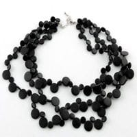 Black smarties necklace