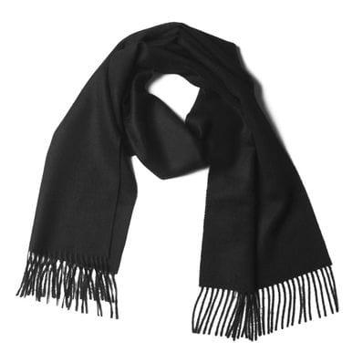 Black 100% baby alpaca scarf