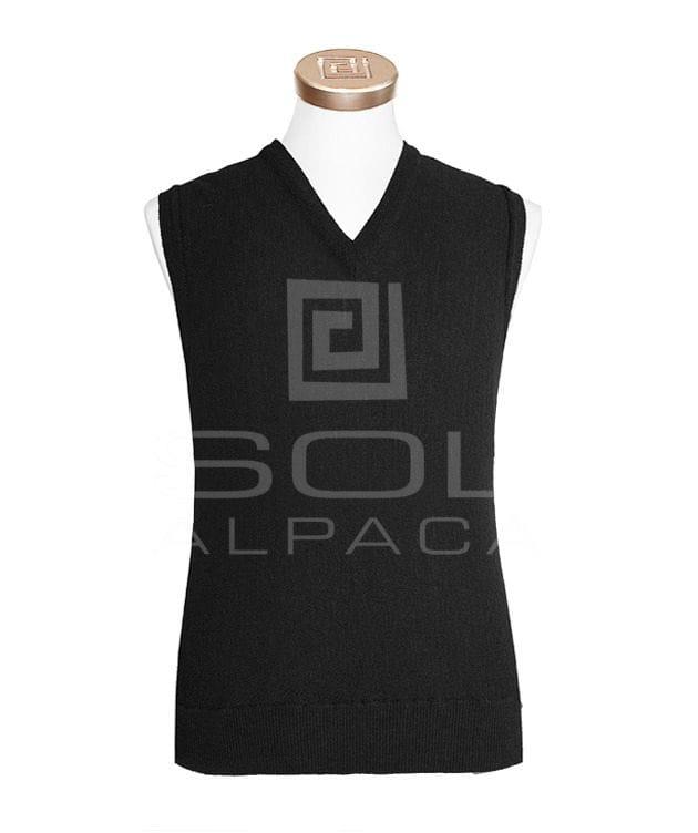 Men's Alpaca Links Vest Black small