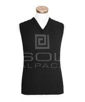 Men's Alpaca Links Vest Black small