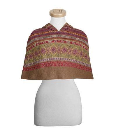 Hooded Short Alpaca Cape - save $147.50