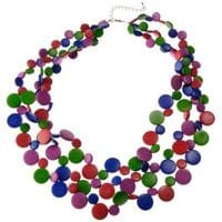 Harlequin smarties necklace