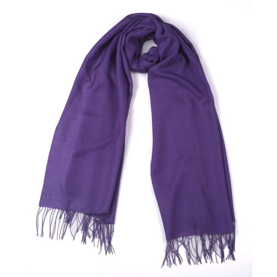 Deep Purple Alpaca and Silk Stole/Wrap