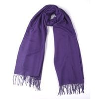 Deep Purple Alpaca and Silk Stole/Wrap
