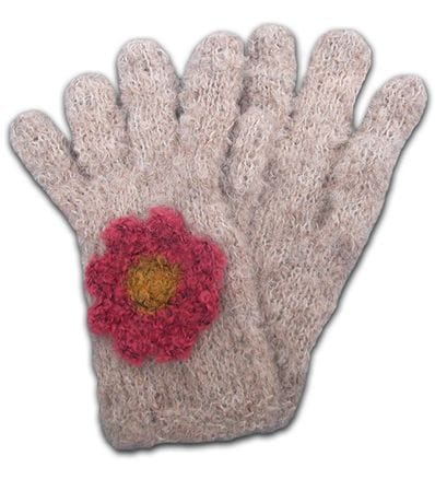 In Bloom alpaca boucle crochet flower glove   Order now