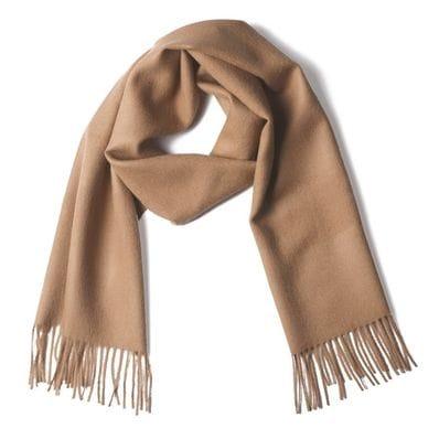 Beige baby alpaca scarf