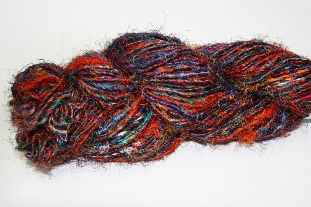 Recycled Sari Silk yarn 200g skein
