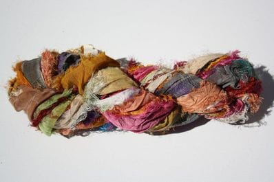 Recycled Silk ribbon 100g