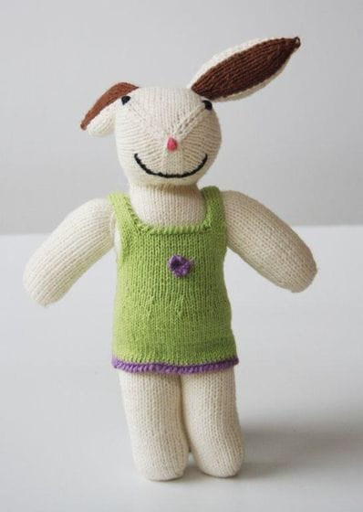 Handknitted cotton rabbit OUT OF STOCK