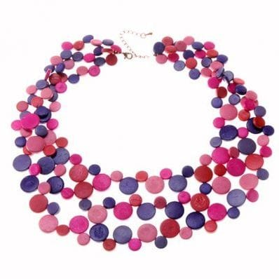 Flossey 3 Strand Smarties Necklace