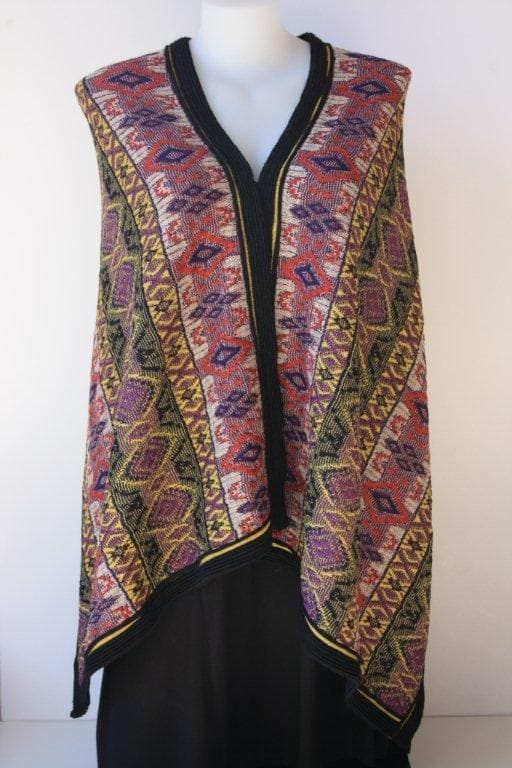Structured Jacquard Alpaca Cape