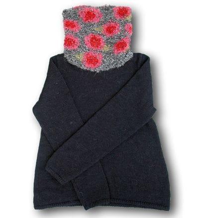 Spring Rose Alpaca pullover