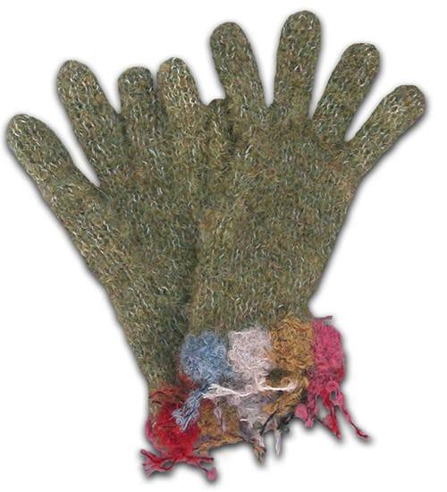 Dotted candy alpaca glove