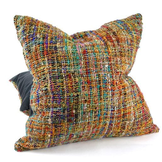 Handwoven silk cushion cover