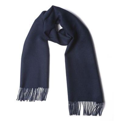 Navy 100% baby alpaca scarf