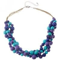 Berry Turquoise Molecules Necklace