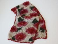 BIG ROSE Handknitted Alpaca Scarf