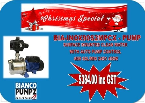 CHRISTMAS SPECIAL - BIA-INOX90S2MPCX - PUMP