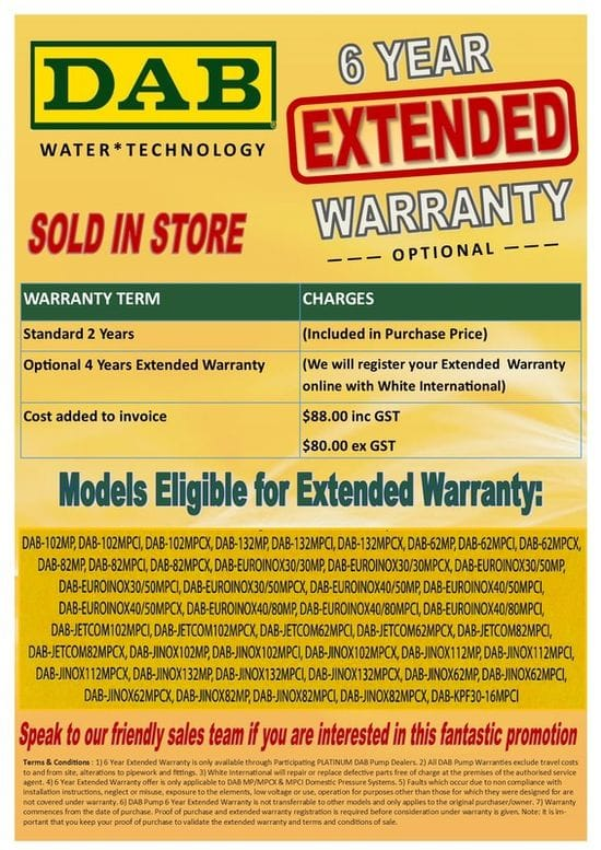 Dab Extended Warranty