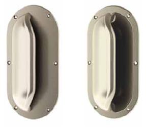 Grab (Recessed or Flat Plate) Anti-Ligature Door Handles