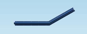 Contour Anti-Ligature 30 Degree Grab Rail - Left Handed