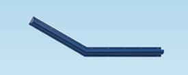 Contour Anti-Ligature 30 Degree Grab Rail - Right Handed