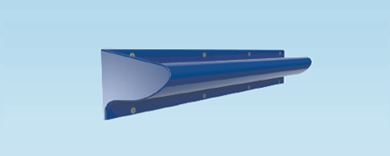 Contour Anti-Ligature Grab Rail 700mm Right Handed