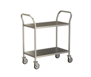 2 Shelf Clearing Trolley