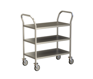 3 Shelf Clearing Trolley