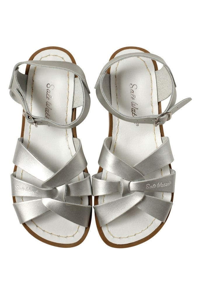 Saltwater Sandal - Silver Adult