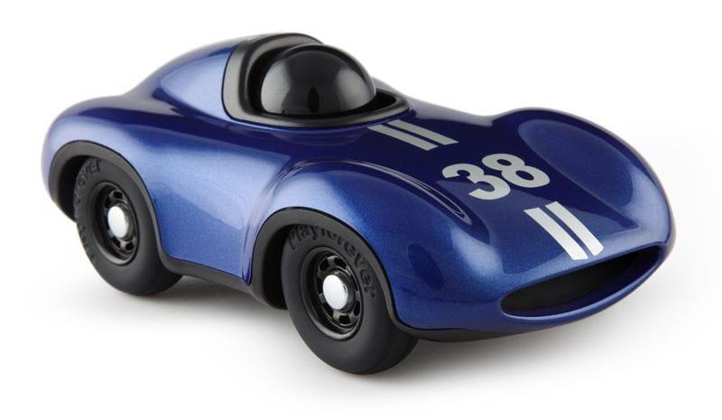 Playforever - Mini Metallic Blue Racing Car