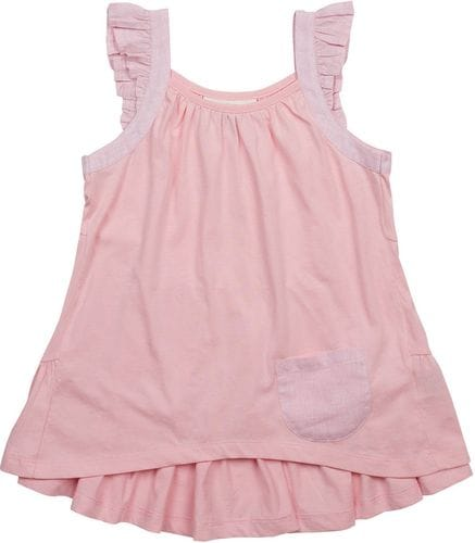 SALE - Paper Wings - Frilled Singlet - Light Pink