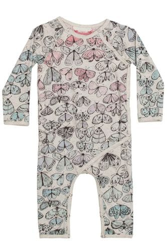 Little Wings by Paper Wings - Crossover Romper - Winter moths