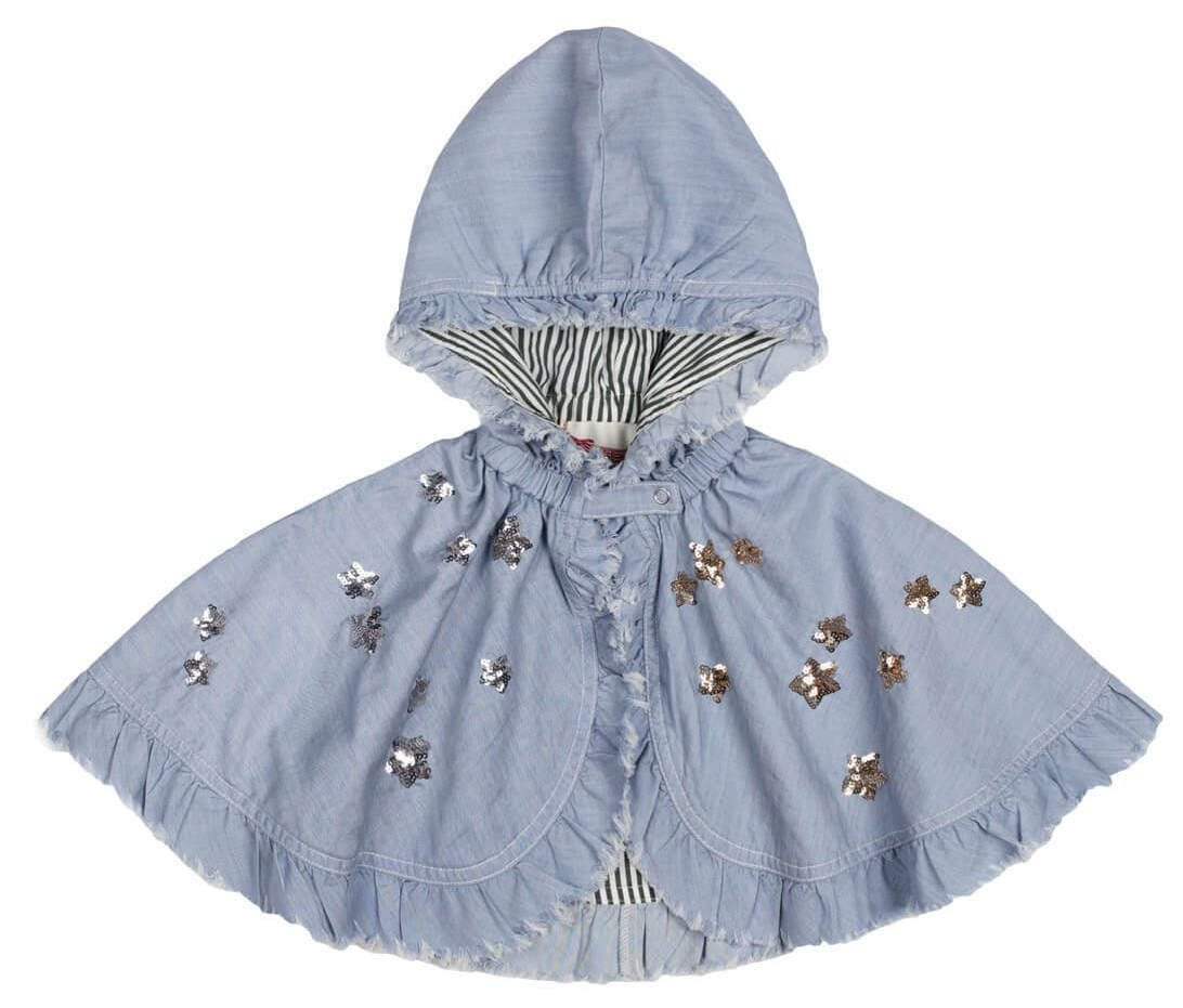 Little Wings by Paper Wings - Frilled Cape- Star Embroidery
