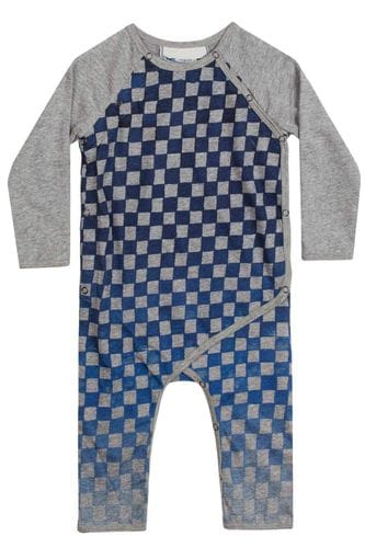 Little Wings by Paper Wings - Classic Romper- Checked Out
