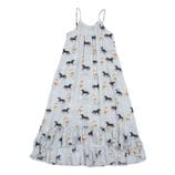 Paper Wings - Frilled Maxi Dress - Spring Horse