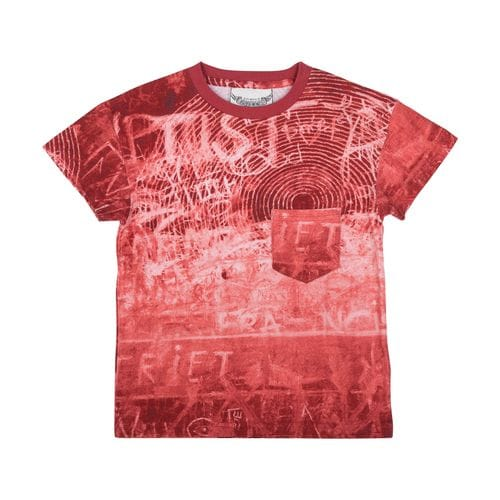 Paper Wings - Drop Shoulder T-shirt - Rust Board
